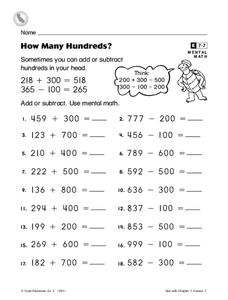 scott foresman math lesson plans  worksheets reviewed by teachers how many hundreds