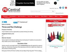 Throw and Run Challenge Lesson Plan