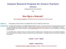 How Big is a Molecule? Lesson Plan