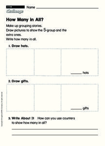 How Many in All? Worksheet