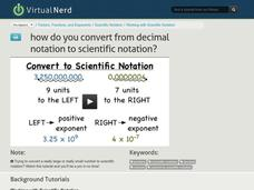How Do You Convert From Decimal Notation to Scientific Notation? Video