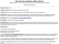 How Do Our Attitudes Affect Waste? Lesson Plan