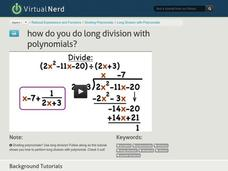 How Do You Do Long Division With Polynomials? Video