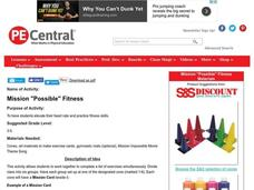 "Mission ""Possible"" Fitness Lesson Plan"