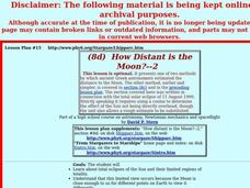 How Distant is the Moon?--2 Lesson Plan