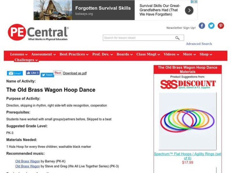 The Old Brass Wagon Hoop Dance Lesson Plan