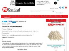 Fourth of July Fitness Fun Lesson Plan