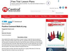 Positive Comment Walk-A-Long Lesson Plan