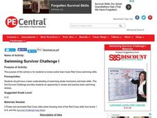 Swimming Survivor Challenge I Lesson Plan