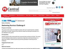 Swimming Survivor Challenge II Lesson Plan