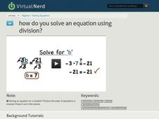 How Do You Solve an Equation Using Division? Video
