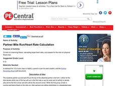 Partner Mile Run/Heart Rate Calculation Lesson Plan