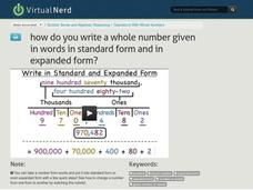 How Do You Write a Whole Number Given in Words in Standard Form and in Expanded Form? Video