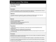 How Does It Sound? Lesson Plan