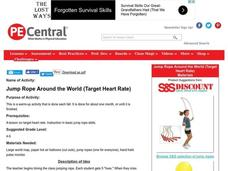 Jump Rope Around the World (Target Heart Rate) Lesson Plan