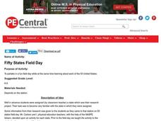Fifty States Field Day Lesson Plan