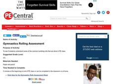 Gymnastics Rolling Assessment Lesson Plan