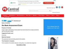 Six Week Assessment Exam Lesson Plan