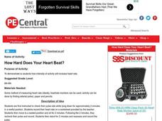 How Hard Does Your Heart Beat? Lesson Plan