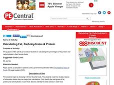 Calculating Fat, Carbohydrates & Protein Lesson Plan