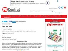 First Aid Kits Lesson Plan