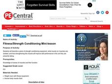 Fitness/Strength Conditioning Mini-lesson Lesson Plan
