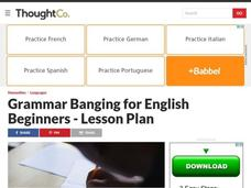 English Beginner Grammar Review # 1 Lesson Plan