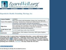 Reproductive Health: Friendship, Marriage, Sex Lesson Plan