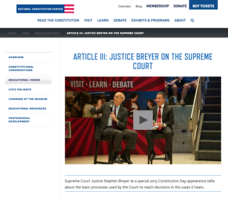 Article III: Justice Breyer on the Supreme Court Video