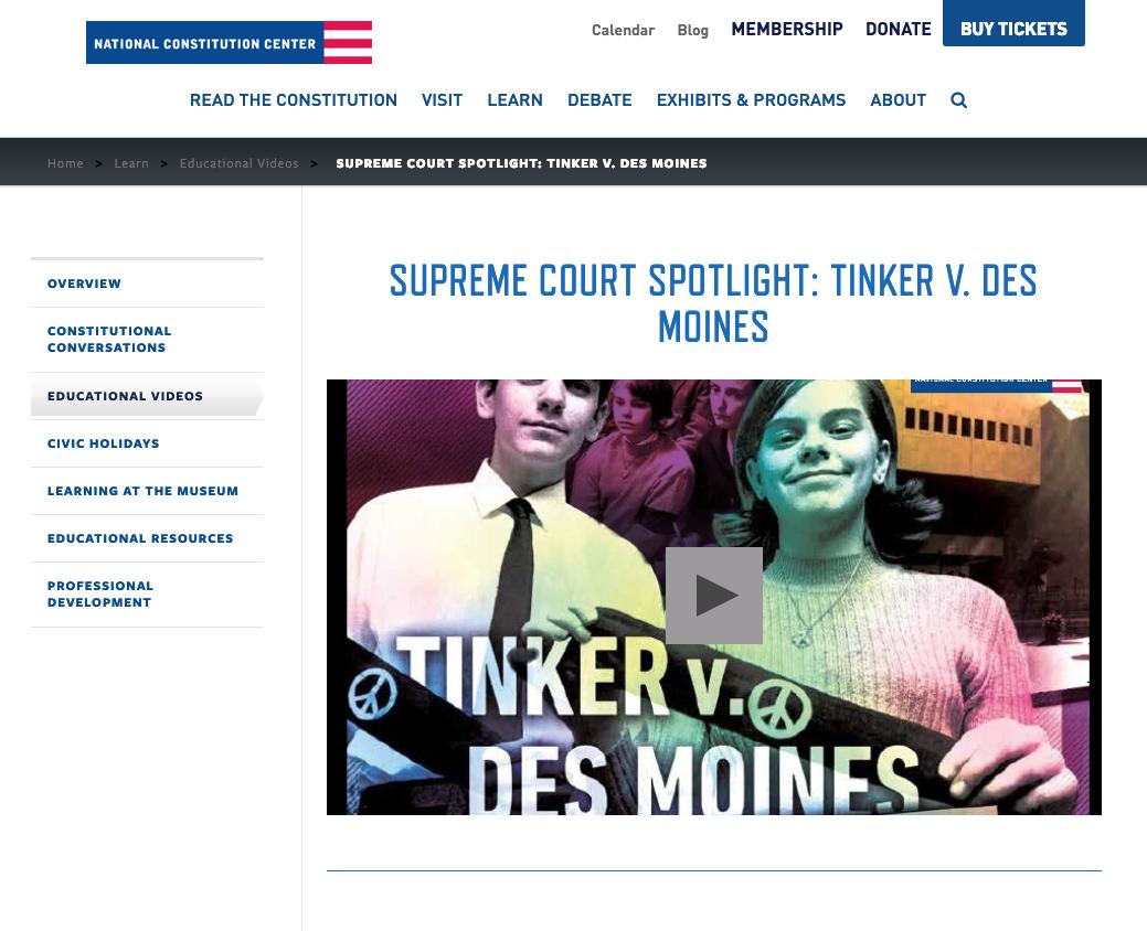 Supreme Court Spotlight: Tinker v  Des Moines Video for 7th