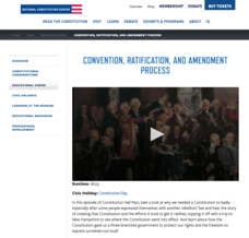 Convention, Ratification, and Amendment Process Video