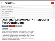 Integrating Past Continuous Lesson Plan