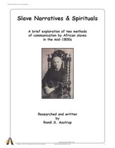 Slave Narratives and Spirituals Unit