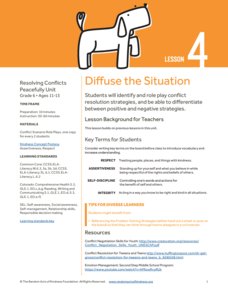 Diffuse the Situation Lesson Plan