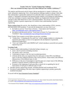 Genetics Challenge Worksheet Answers