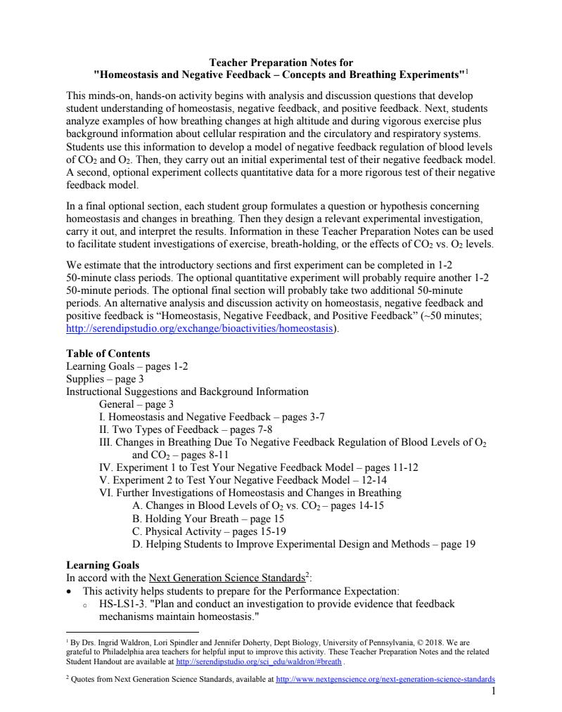 Feedback Mechanisms Worksheet Answers - Basic Feedback ...