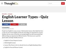 English Learner Types - Quiz Lesson Lesson Plan