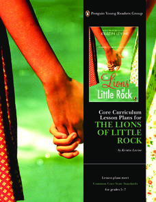 Core Curriculum Lesson Plans for The Lions of Little Rock Lesson Plan