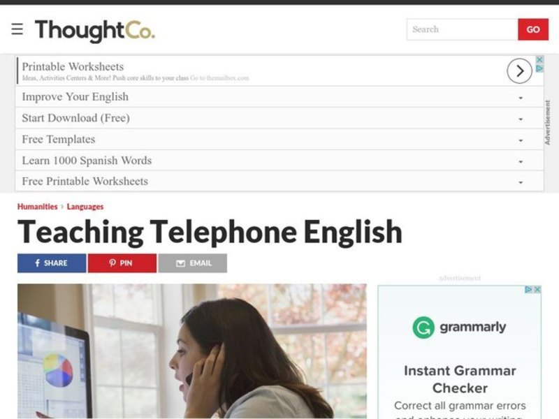 Teaching Telephone English for Business ESP English Classes Lesson Plan