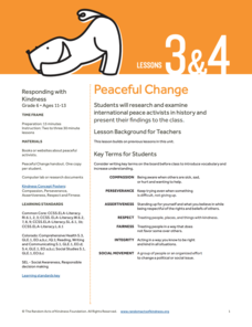 Peaceful Change Lesson Plan