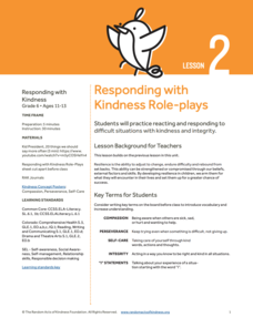 Responding with Kindness Role-plays Lesson Plan