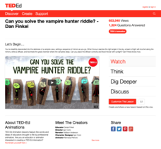 Can You Solve the Vampire Hunter Riddle? Video