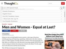 Conversation Lesson: Men and Women - Equal at Last? Lesson Plan