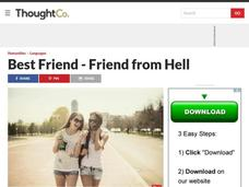 Best Friend - Friend from Hell Lesson Plan