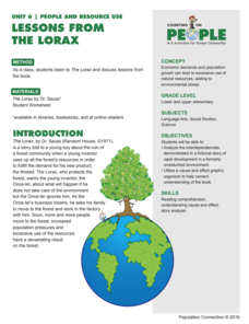 Lessons From the Lorax Lesson Plan