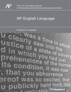 AP English Language—Precision of Language Lesson Plan