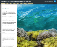 Investigating Coral Bleaching Using Data in the Classroom Interactive