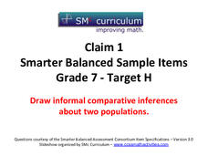 Smarter Balanced Sample Items: 7th Grade Math – Target H Assessment