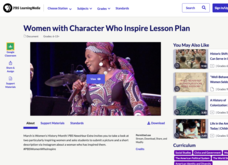 Women with Character Who Inspire Lesson Plan Lesson Plan