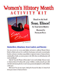 Women's History Month Activity Kit Activities & Project